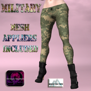 Digital Green camo Pants advert