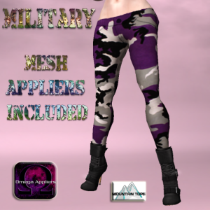 Urban Purple Camo Pants advert