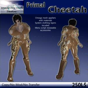 Primal Cheetah ad