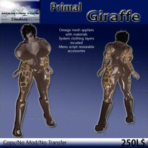 Primal Giraffe ad