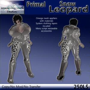 Primal Snow Leopard ad