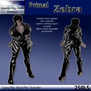 Primal Zebra ad