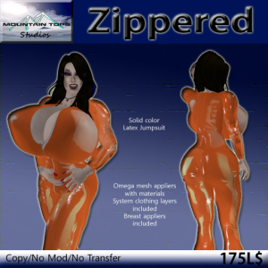 Zippered Orange ad